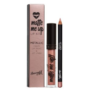 Barry M Matte Me Up Metallic Lip Kit Bespoke