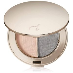Jane Iredale Purepressed Eye Shadow Duo-Hush/Smoky Grey
