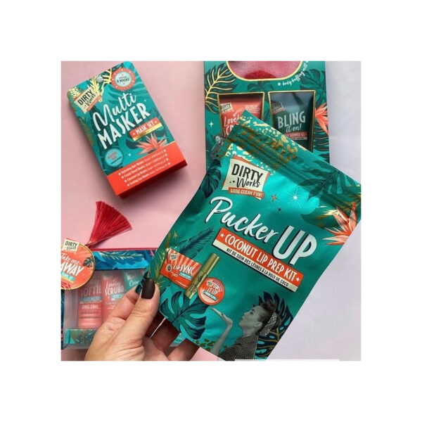 Dirty Works pucker up coconut lip prep kit with tropical coconut